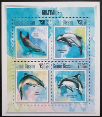 Poštovní známky Guinea-Bissau 2013 Delfíni Mi# 6873-76 Kat 12€