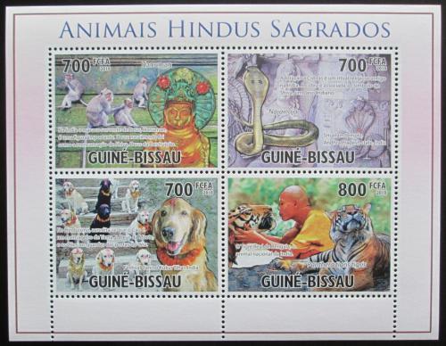 Poštovní známky Guinea-Bissau 2010 Posvátná zvíøata hinduismu Mi# 5180-83 Kat 12€