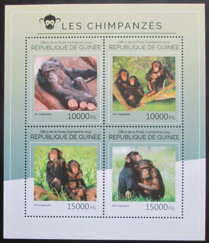 Poštovní známky Guinea 2014 Šimpanzi Mi# 10597-600 Kat 20€