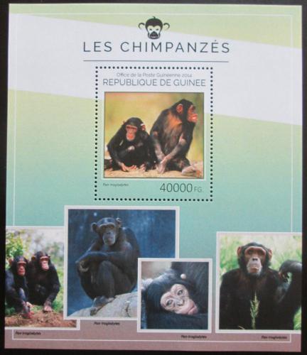 Poštovní známka Guinea 2014 Šimpanzi Mi# Block 2415 Kat 16€