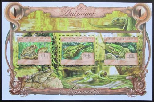 Poštovní známky Guinea 2013 Žáby Mi# 9805-07 Kat 20€