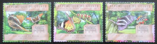 Poštovní známky Guinea 2013 Motýli Mi# 9793-95 Kat 20€