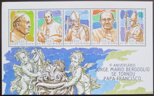 Poštovní známky Guinea-Bissau 2014 Papež František Mi# 7158-62 Kat 14€