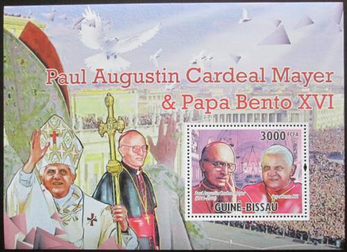 Poštovní známka Guinea-Bissau 2010 Papež Benedikt Mi# Block 892 Kat 12€