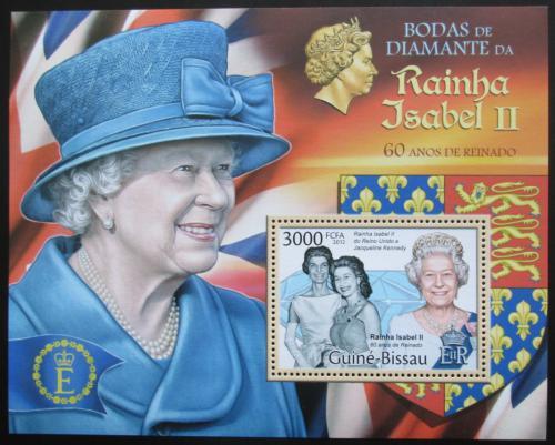 Poštovní známka Guinea-Bissau 2012 Královna Alžbìta II. Mi# Block 1030 Kat 12€