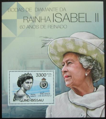 Poštovní známka Guinea-Bissau 2012 Královna Alžbìta II. Mi# Block 1051 Kat 13€