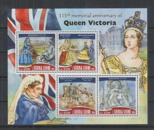 Poštovní známky Sierra Leone 2016 Královna Viktorie Mi# 7478-81 Kat 12€