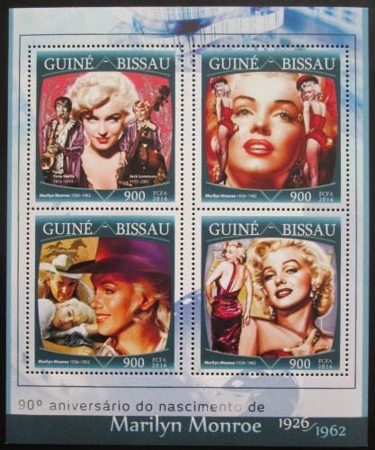 Poštovní známky Guinea-Bissau 2016 Marilyn Monroe Mi# 8659-62 Kat 13.50€