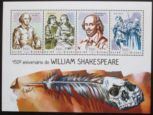 Poštovní známky Guinea-Bissau 2014 William Shakespeare Mi# 7311-14 Kat 14€