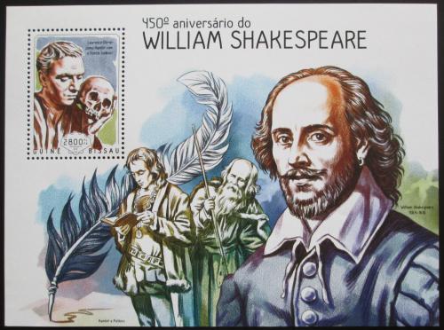 Poštovní známka Guinea-Bissau 2014 William Shakespeare Mi# Block 1281 Kat 11€