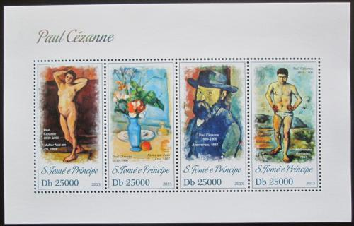 Poštovní známky Svatý Tomáš 2013 Umìní, Paul Cézanne Mi# 5226-29 Kat 10€
