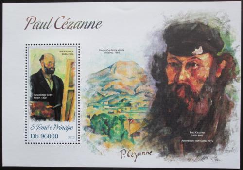 Poštovní známka Svatý Tomáš 2013 Umìní, Paul Cézanne Mi# Block 905 Kat 10€
