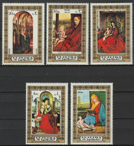 Poštovní známky Fudžajra 1972 Umìní, Madona Mi# 876-80 Kat 6€