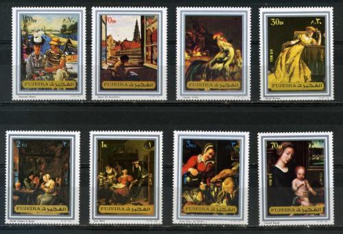 Poštovní známky Fudžajra 1972 Umìní Mi# 1362-69 Kat 7€