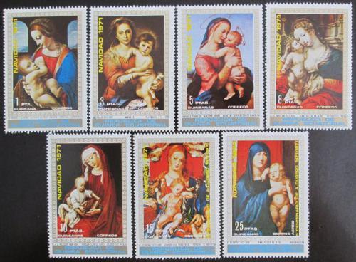 Poštovní známky Rovníková Guinea 1972 Umìní, Vánoce Mi# 37-43