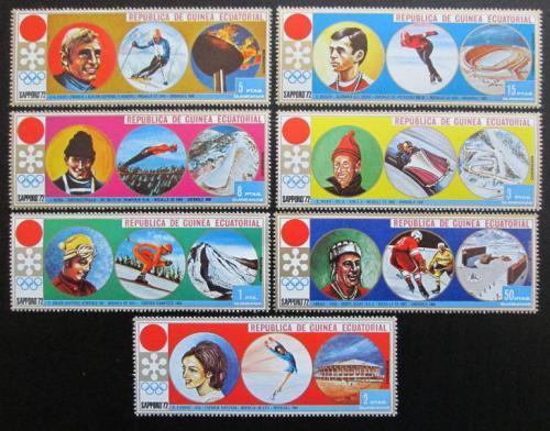 Poštovní známky Rovníková Guinea 1972 ZOH Sapporo Mi# 27-33