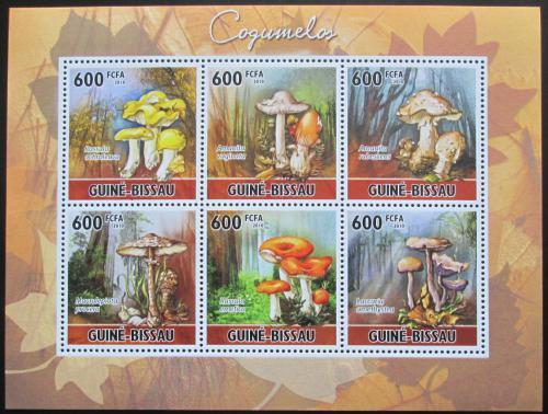 Poštovní známky Guinea-Bissau 2010 Houby Mi# 5159-64 Kat 14€