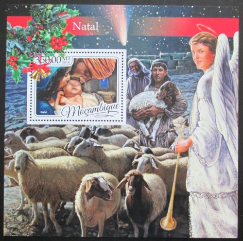 Poštovní známka Mosambik 2016 Vánoce Mi# Block 1215 Kat 20€