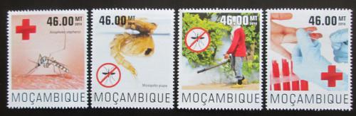 Poštovní známky Mosambik 2014 Boj proti malárii Mi# 7635-38 Kat 10€
