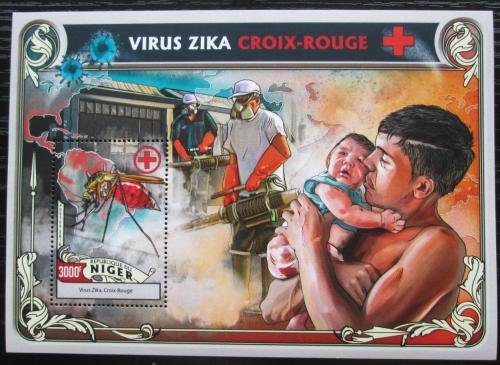 Poštovní známka Niger 2016 Boj proti viru Zika Mi# Block 563 Kat 12€