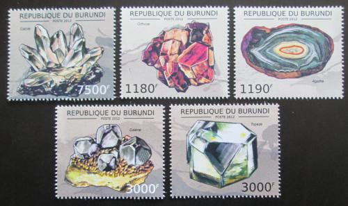 Poštovní známky Burundi 2012 Minerály Mi# 2733-37 Kat 10€