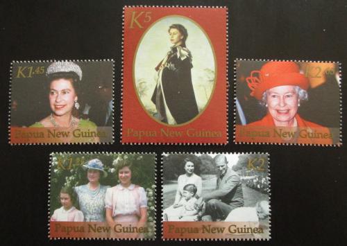 Poštovní známky Papua Nová Guinea 2002 Královna Alžbìta II. Mi# 920-24 Kat 11€