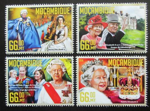 Poštovní známky Mosambik 2016 Královna Alžbìta II. Mi# 8539-42 Kat 15€