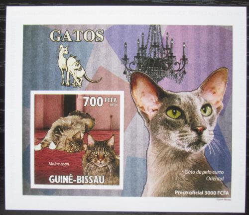 Poštovní známka Guinea-Bissau 2010 Koèky DELUXE, na kartonu Mi# 4776 Block