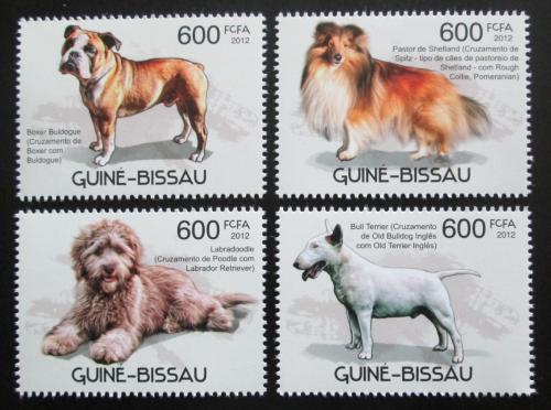 Poštovní známky Guinea-Bissau 2012 Psi Mi# 5867-70 Kat 9.50€