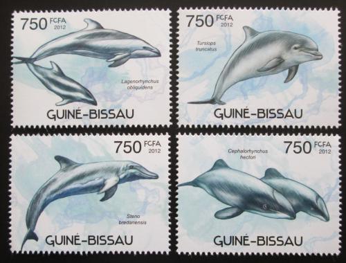Poštovní známky Guinea-Bissau 2012 Delfíni Mi# 5907-10 Kat 11€