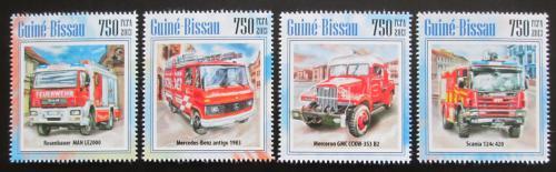 Poštovní známky Guinea-Bissau 2013 Hasièská auta Mi# 6868-71 Kat 12€