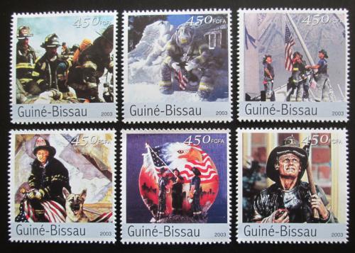 Poštovní známky Guinea-Bissau 2003 Hasièi z New Yorku Mi# 2387-92 Kat 11€