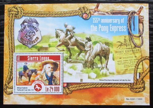 Poštovní známka Sierra Leone 2015 Pony Express, 155. výroèí Mi# Block 778 Kat 11€