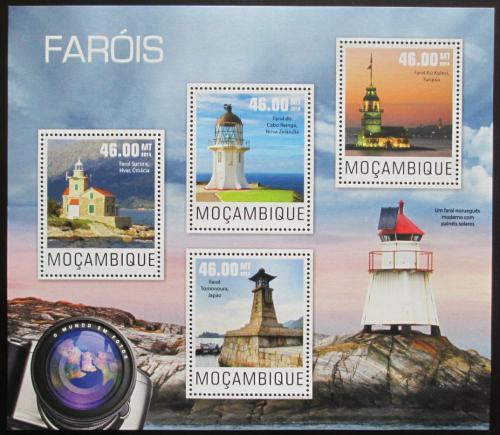 Poštovní známky Mosambik 2014 Majáky Mi# 7640-43 Kat 10€