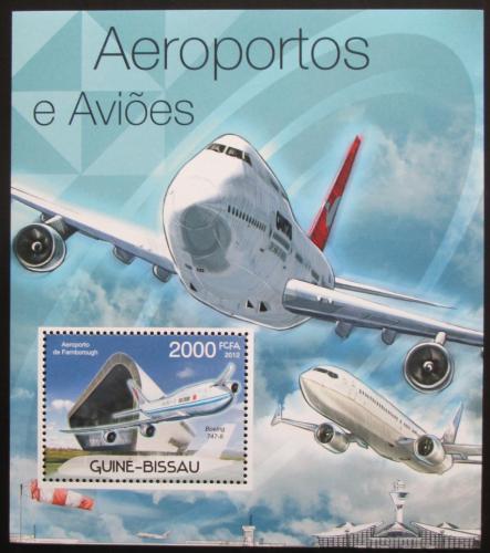 Poštovní známka Guinea-Bissau 2012 Boeing 747 Mi# Block 1050 Kat 8€