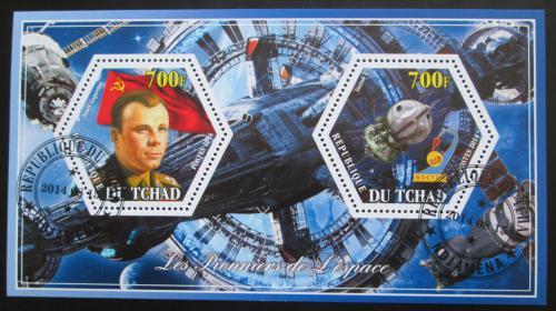 Poštovní známky Èad 2014 Jurij Gagarin, prùzkum vesmíru Mi# N/N