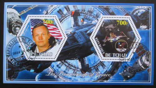 Poštovní známky Èad 2014 Neil Armstrong, prùzkum vesmíru Mi# N/N