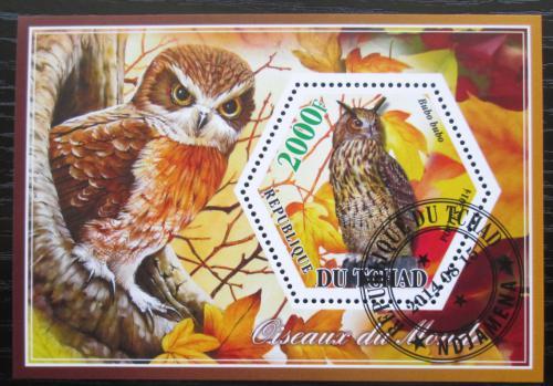 Poštovní známka Èad 2014 Sovy Mi# N/N