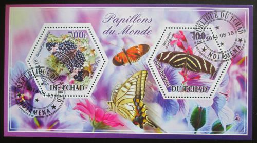 Poštovní známky Èad 2014 Motýli Mi# N/N