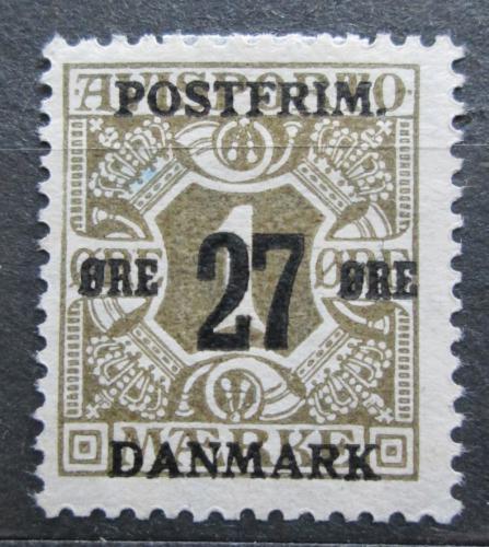 Poštovní známka Dánsko 1918 Novinová pøetisk Mi# 84 Y