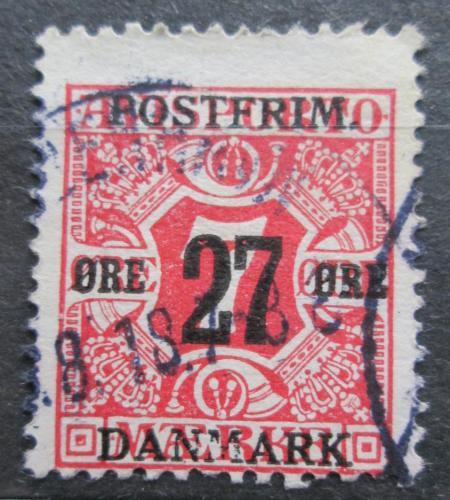Poštovní známka Dánsko 1918 Novinová pøetisk Mi# 86 Y Kat 8€