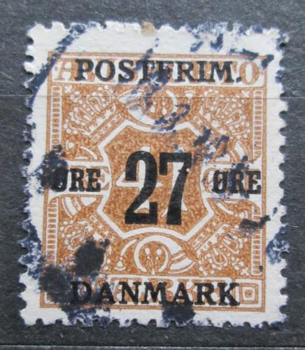 Poštovní známka Dánsko 1918 Novinová pøetisk Mi# 92 Y Kat 36€