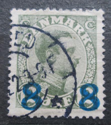 Poštovní známka Dánsko 1921 Král Kristián X. pøetisk Mi# 113 Kat 6.50€