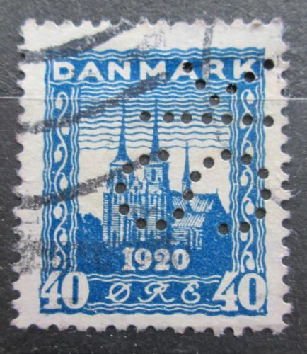 Poštovní známka Dánsko 1921 Katedrála v Roskilde perfin Mi# 115 Kat 8€