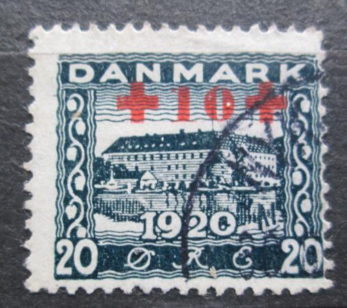 Poštovní známka Dánsko 1921 Zámek Sonderburg pøetisk RARITA Mi# 117 Kat 60€