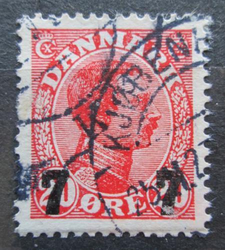 Poštovní známka Dánsko 1927 Král Kristián X. pøetisk Mi# 174