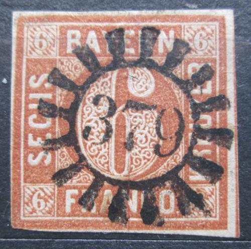 Poštovní známka Bavorsko 1850 Nominální hodnota Mi# 4 II Kat 10€