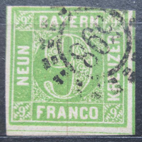 Poštovní známka Bavorsko 1850 Nominální hodnota Mi# 5 Kat 20€