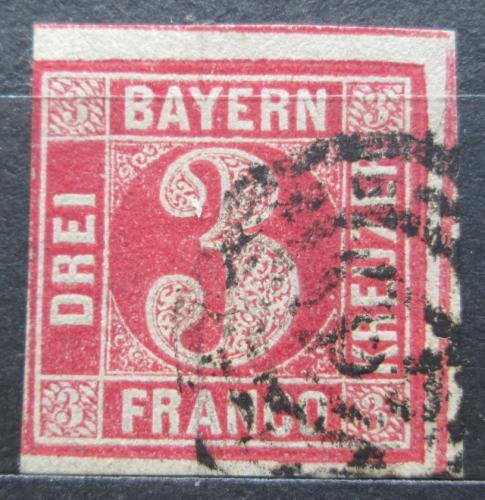 Poštovní známka Bavorsko 1862 Nominální hodnota Mi# 9 Kat 10€