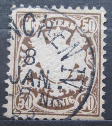 Poštovní známka Bavorsko 1881 Státní znak Mi# 52 Kat 4€